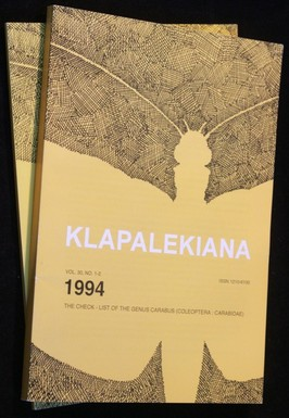 náhled knihy - Klapalekiana no. 1-2 a 3-4 1994