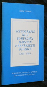 náhled knihy - Scénografie díla Bohuslava Martinů v brněnském divadle (1925-1982)