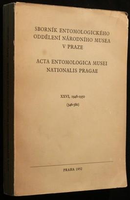 náhled knihy - Sborník entomologického oddělení národního musea v Praze XXVI 1948-1950
