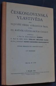 náhled knihy - Československá vlastivěda pro nejvyšší třídu středních škol a pro III. ročník učitelských ústavů
