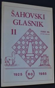 náhled knihy - Šahovski Glasnik, č. 11