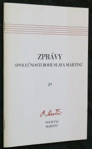 náhled knihy - Zprávy společnosti Bohuslava Martinů, číslo 29