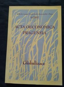 náhled knihy - Acta oeconomica Pragensia - Globalizace - Vědecký časopis VŠE 6/2002  (A4, 220 s.)