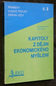 náhled knihy - Kapitoly z dějin ekonomického myšlení č. 3