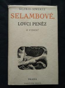 náhled knihy - Selambové, lovci peněz (Oppl, 386 s., ob, dřavoryty a typo C. Bouda)