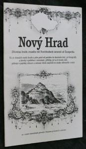 náhled knihy - Nový Hrad : zřícenina hradu zvaného též Furchtenberk severně od Šumperka