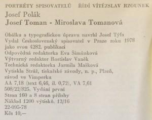 antikvární kniha Josef Toman - Miroslava Tomanová, 1978