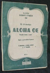 náhled knihy - Aloha oe! havajská hymna a píseň