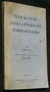 náhled knihy - Texty ke studiu jazyka a písemnictví staroslověnského