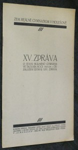 náhled knihy - XV. zpráva o stavu reálného gymnasia ve školním roce 1923/24 od založení ústavu XXV. zpráva