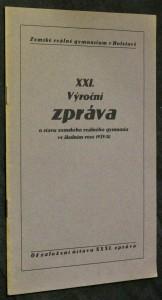 náhled knihy - XXI. výroční zpráva o stavu zemského reálného gymnasia ve školním roce 1929/30