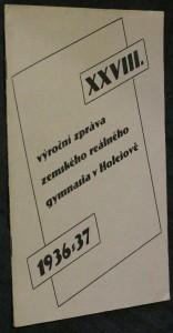 náhled knihy - XXVIII. výroční zpráva zemského reálného gymnasia v Holešově 1936-1937