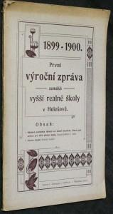 náhled knihy - První výroční zpráva zemské vyšší reálné školy v Holešově 1899-1900