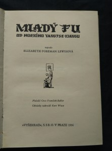 náhled knihy - Mladý Fu od horního Yangtse-Kiangu (A4, Ocpl, 206 s., il. K. Wiese)