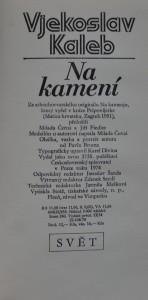antikvární kniha Na kamení, 1974