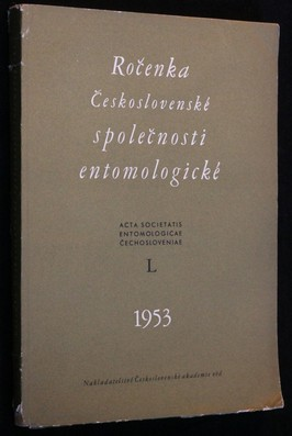 náhled knihy - Ročenka Československé společnosti entomologické 1953, ročník L