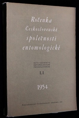 náhled knihy - Ročenka Československé společnosti entomologické 1954, ročník LI
