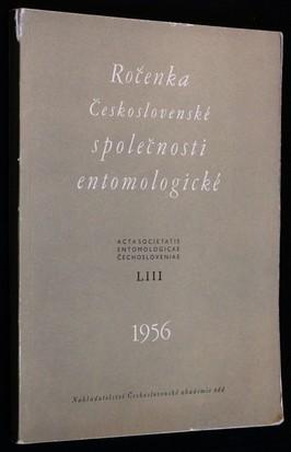 náhled knihy - Ročenka Československé společnosti entomologické 1956, ročník LIII
