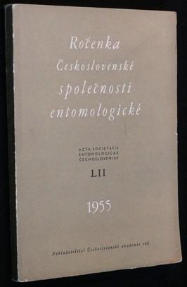 náhled knihy - Ročenka Československé společnosti entomologické 1955, ročník LII