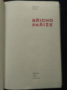 náhled knihy - Břicho Paříže (Ocpl., 256 s.)
