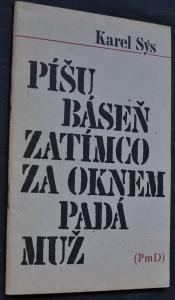 náhled knihy - Píšu báseň zatímco za oknem padá muž