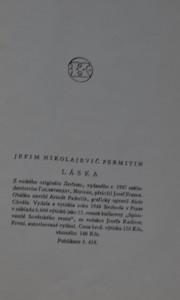 antikvární kniha Láska : Román, 1948