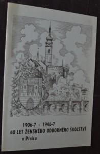 náhled knihy - 40 let ženského odborného školství v Písku [190