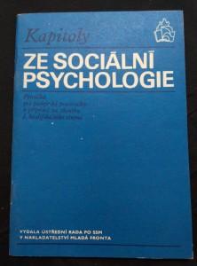 náhled knihy - Kapitoly ze sociální psychologie (Obr., 56 s.)