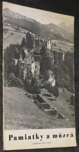 náhled knihy - Pamiatky a múzeá, ročník III. č. 4