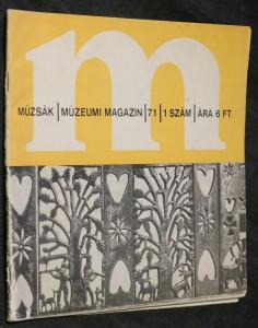 náhled knihy - Múzskák/ múzeumi magazin/ 71/ 1 Szám/ Ára 6 FT