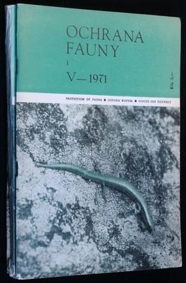 náhled knihy - Ochrana fauny 1971 3sv 1, 2-3 a 4