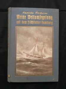 náhled knihy - Meine Weltumsegelung mit dem Fischkutter Hamburg (Ocpl, 304 s., podpis autora)