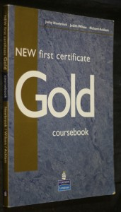 náhled knihy - New first certificate Gold coursebook