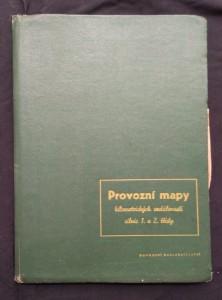 náhled knihy - Provozní mapy kilometrických vzdáleností silnic 1. a 2. třídy pro všechny kraje ČSR/ Nomogramy (A4, nestr.)