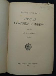antikvární kniha Výprava Humfrida Clinkera II (Oppl., 270 s.), 1909
