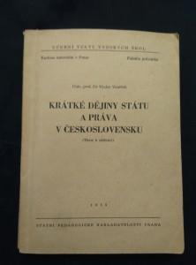 náhled knihy - Krátké dějiny státu a práva v Československu (Obr, 344 s.)
