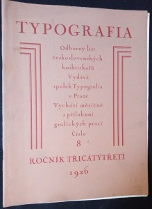 náhled knihy - Typografia, odborný list československých knihtiskařů: Písmo knihtiskařské (ročník 33, číslo 8)