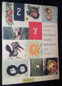 náhled knihy - Dvakrát sedm pohádek (s autogramem F. Hrubína)