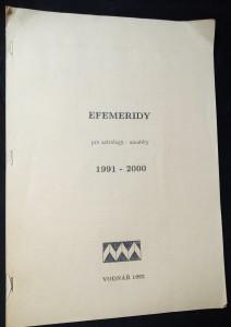 náhled knihy - Efemeridy: pro astrology - amatéry