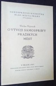 náhled knihy - O vývoji samosprávy pražských měst (sazek I)