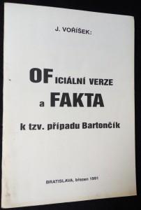 náhled knihy - Oficiální verze a fakta k tzv. případu Bartončík