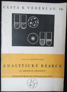 náhled knihy - Analytické reakce II. díl : Reakce aniontů