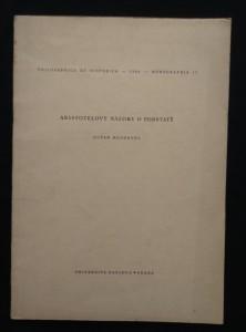 náhled knihy - Aristotelovy názory o podstatě (Obr, 88 s.)