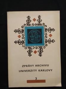 náhled knihy - Zprávy archivu Univerzity Karlovy 3/1980 (Obr., 152 s.)