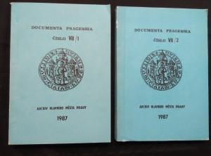 náhled knihy - Documenta Pragensia VII/1, 2 - Zdravotní poměry, hygiena,  a populační proměny od 13. do 19. století (Obr, 518 s.)
