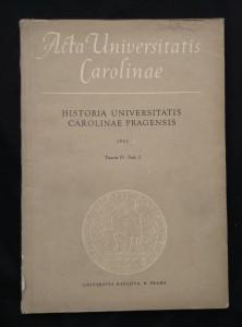náhled knihy - Historia universitatis carolinae pragensis Tomus IV, Fasc. 2 (Obr, 180 s.)