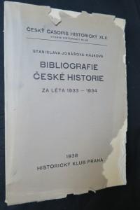 náhled knihy - Bibliografie české historie za léta 1933-1934