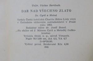antikvární kniha Dar nad všechno zlato : Sv. Cyril a Metod, 1963