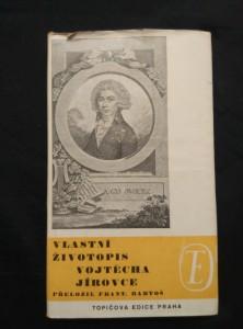 náhled knihy - Vlastní životopis Vojtěcha Jírovce (Ocpl, 149 s.)