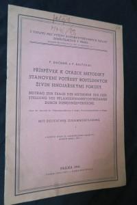 náhled knihy - Příspěvek k otázce metodiky stanovení potřeby rostlinných živin hnojařskými pokusy = Beitrag zur Frage der Methodik zur Feststellung des Pflanzennährstoffbedarfes durch Düngungsversuche